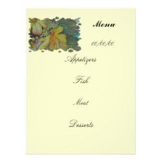 menu personalized invite