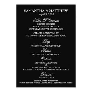 "Menu template wedding engagement anniversary 5"" x 7"" invitation card"