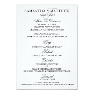 Menu template wedding engagement anniversary card
