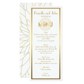 Menu Wedding,Gatsby,Stylized Monet's Dahlia thin Card