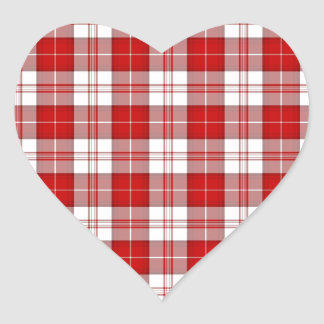 Menzies Tartan Plaid Heart Sticker