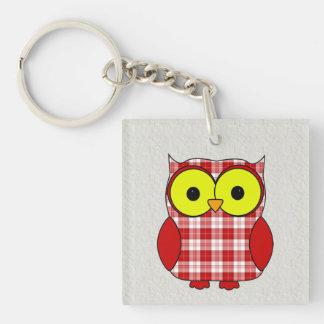 Menzies Tartan Plaid Owl Keychain
