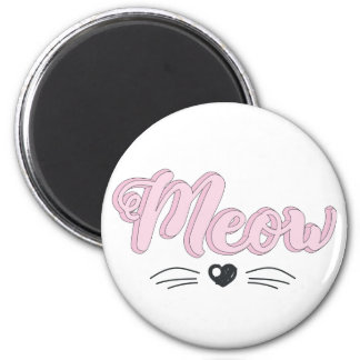 Meow 2 Inch Round Magnet