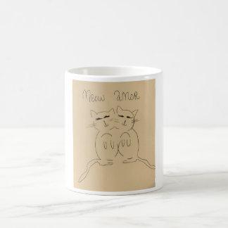 Meow amor coffee mug