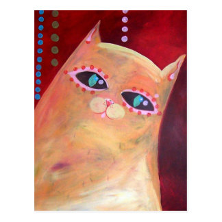"""""""Meow and Forever"""" Original Artwork Postcard"""