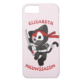 Meow Assassin Ninja Cat Meowssassin Cute Funny iPhone 8/7 Case