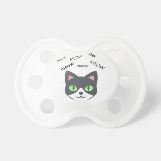 Meow Cat Cute Emoji Pacifier