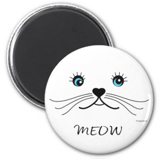 MEOW-Cat Face Graphic Cool 2 Inch Round Magnet