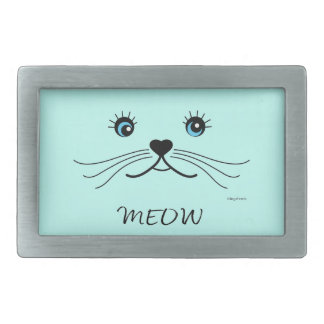 MEOW-Cat Face Graphic Cool Belt Buckles