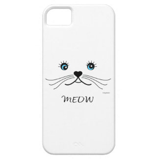 MEOW-Cat Face Graphic Cool Case For The iPhone 5