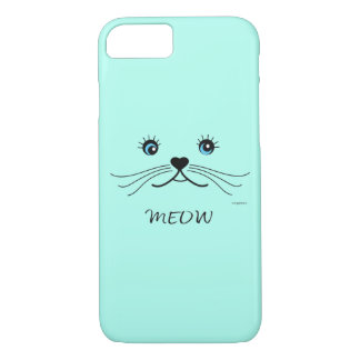 MEOW-Cat Face Graphic Cool Case-Mate iPhone Case