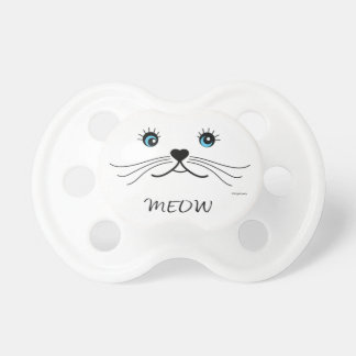 MEOW-Cat Face Graphic Cool Pacifier