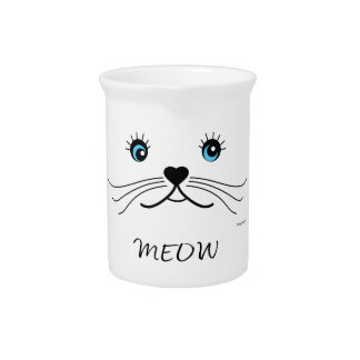 MEOW-Cat Face Graphic Cool Pitcher