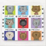 Meow Cat Lover Mousepad