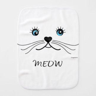 MEOW-Cat-Shirt Burp Cloth