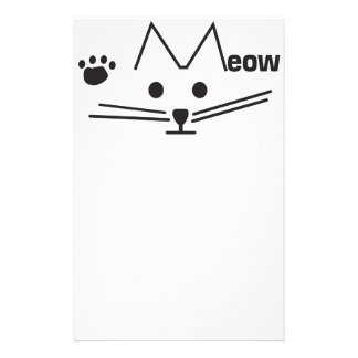 Meow Cat Stationery