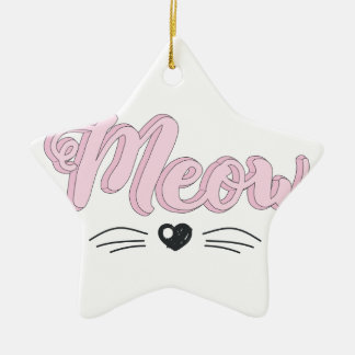 Meow Ceramic Ornament