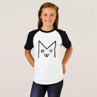 """MEOW"" Girls' Short Sleeve Raglan T-Shirt"