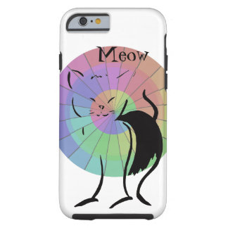 Meow Kitty Cat Cute Funny Rainbow Humor Tough iPhone 6 Case