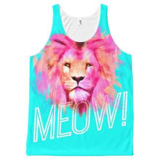 MEOW Lion All-Over-Print Tank Top