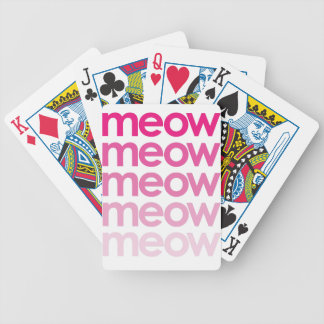 meow meow meow meow bicycle playing cards
