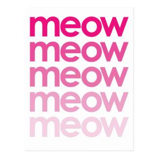 meow meow meow meow postcard