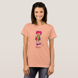 Meow-Nasty woman hat on SASSY-rainbow face tshirt