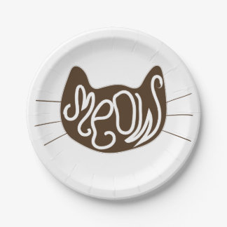 Meow Paper Plate