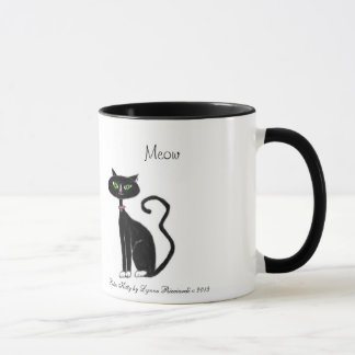 Meow Retro Kitty Mug