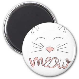 Meow Said the Cat 2 Inch Round Magnet