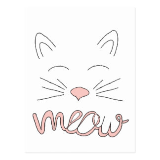Meow Said the Cat Postcard