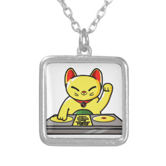 Meow-sician Silver Plated Necklace
