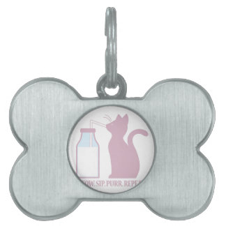 Meow Sip Purr Pet Tag