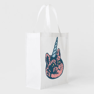 Meowgical Kittycorn Heavy Breathing Cat Meme Reusable Grocery Bag