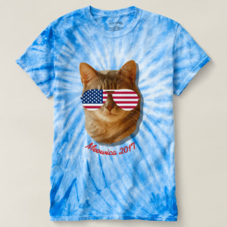 Meowica Cat American Flag T T-shirt