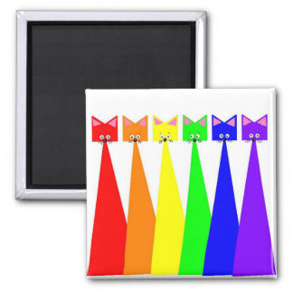 Meows X 6 Square Magnet
