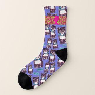 Meowtown Groovy Cat Socks