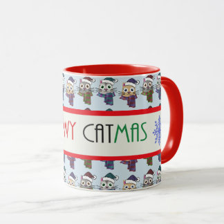 Meowy Catmas Christmas Kitties Mug