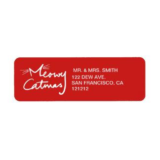 Meowy Catmas Custom Cat Christmas Return Address