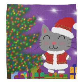 Meowy Christmas Bandana