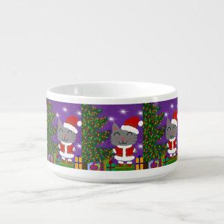 Meowy Christmas Bowl