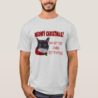 MEOWY CHRISTMAS! ...  Camera weary kitty! T-Shirt