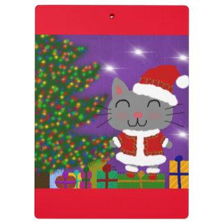 Meowy Christmas Clipboard