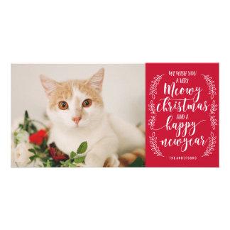 Meowy Christmas Custom Photo Card
