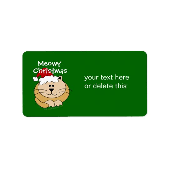 Meowy Christmas Cute Cartoon Cat Custom