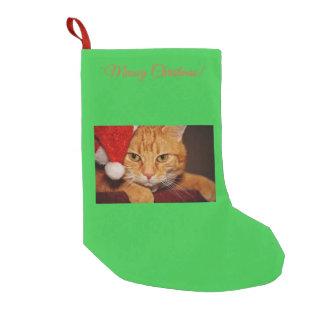 Meowy Christmas cute cat custom Christmas stocking