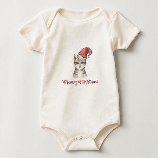 Meowy Christmas Design for Cat Lovers Baby Bodysuit