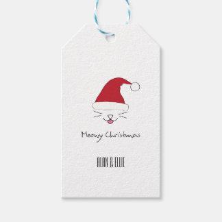 Meowy Christmas Gift Tag