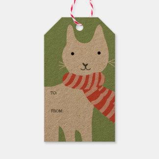Meowy Christmas Gift Tags