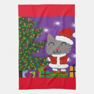 Meowy Christmas Kitchen Towel
